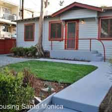 Rental info for 2424 5th St.reet in the Ocean Park area