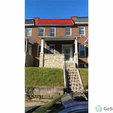 Rental info for Well done townhouse available for rent in West Baltimore in the Callaway - Garrison area
