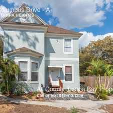 Rental info for 208 E. Columbus Drive in the Tampa Heights area
