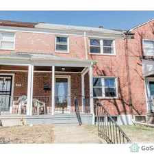 Rental info for Remodeled 4bdrm/ 1.5 baths, beautiful home, close to shopping centers, public transportation, and Morgan State University in the Mount Pleasant Park area