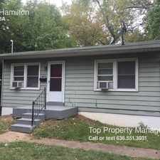Rental info for 4816 Hamilton in the St. Louis area