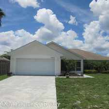 Rental info for 1442 SW PRAIRIE CIRCLE in the Port St. Lucie area