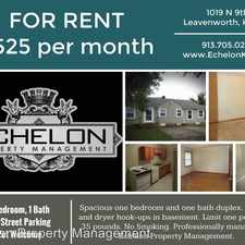 Rental info for 1019 North 9th