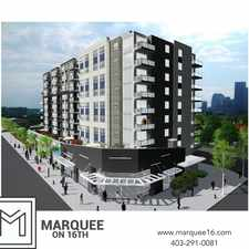 Rental info for Marquee on 16th in the Crescent Heights area