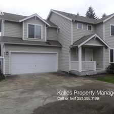 Rental info for 8523 160th St Ct E in the Frederickson area