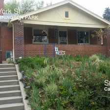 Rental info for 775 South York St in the Washington Park area