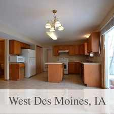 Rental info for 4 Bedroom, 2. 5 Bathroom Home In West Des Moines in the West Des Moines area