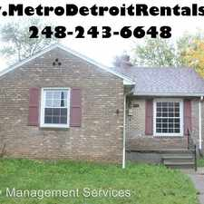 Rental info for 14603 Hanover Ave.@@ in the Allen Park area