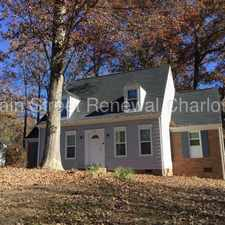 Rental info for Cape Cod Style Home In Charlotte in the Becton Park area