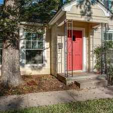 Rental info for White Rock Lake Cottage. Washer/Dryer Hookups! in the Dixon Branch area