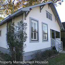 Rental info for 3407 White Oak Dr in the Washington Avenue - Memorial Park area