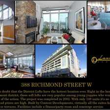 Rental info for 388 Richmond Street West in the Kensington-Chinatown area