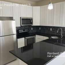 Rental info for 32 East Preston St. in the Baltimore area