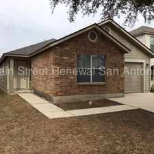 Rental info for 6027 Kensinger Pass in the San Antonio area