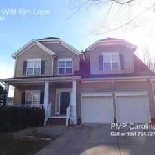 Rental info for 14137 Wild Elm Lane in the Charlotte area