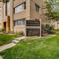 Rental info for Poet's Row in the Denver area