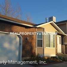 Rental info for 4846 SOUTH 3750 WEST in the 84067 area