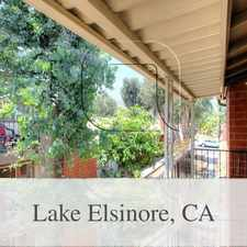Rental info for Lake Elsinore Is The Place To Be! Come Home Today!