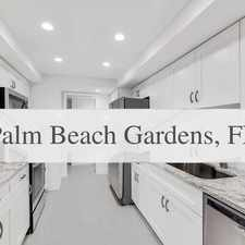 Rental info for Completely Renovated And Updated From Top To Bo... in the Palm Beach Gardens area
