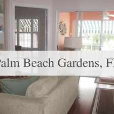 Rental info for Spectacular Lakefront Divosta Oakmont With Full... in the Palm Beach Gardens area