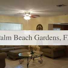 Rental info for Charming 4 Bedroom, 2 Bath. Washer/Dryer Hookups! in the Palm Beach Gardens area