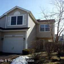 Rental info for 363 Maidstone Court in the Streamwood area