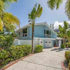 Rental info for A1A/ OCEAN - 5/5 BEACH HOUSE w/ IN-LAW SUITE- STEPS TO OCEAN $5,950 MO. ***SEE REMARKS * PHOTOS*** in the Fort Lauderdale area