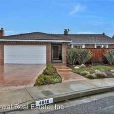 Rental info for 4840 Via De Caballe in the San Jose area