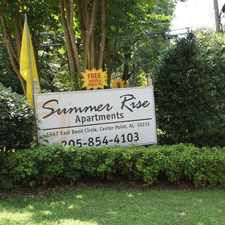 Rental info for Summer Rise Apartments in the Center Point area