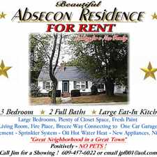 Rental info for Absecon 3 Bedroom 2 Bath Home