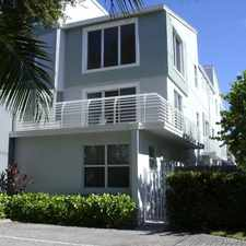 Rental info for EASTSIDE 3 STORY TOWNHOME W/ GARAGE,ROOFTOP DECK-MODERN & PERFECT $2,750 MO. *** SEE REMARKS & PHOTOS*** in the Fort Lauderdale area