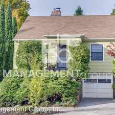 Rental info for 4315 SW View Point Terrace in the Portland area