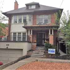 Rental info for 438 Avenue Rd in the Yonge-St.Clair area