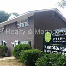 Rental info for Magnolia Place Apts Convenient to Uptown - Wait List in the Charlotte area