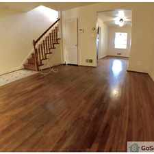 Rental info for Call or text Ben 443-810-7975 to view this fully renovated home with a finished basement, washer/dryer, central air. Quiet, homeowner area! Beautiful hardwood flooring throughout, enclosed porches in the front and rear. in the Baltimore area