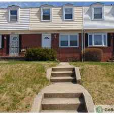 Rental info for NO DEPOSIT - Nice TH with large fenced back yard - finished basement - hardwood floors - Brand new kitchen cabinets and appliances - great location! in the Baltimore area