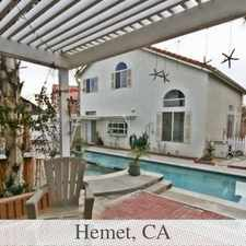 Rental info for Outstanding Opportunity To Live At The Hemet Ci...