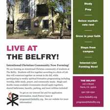 Rental info for Intentional Community at the Belfry