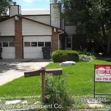 Rental info for 1759 Antero Dr