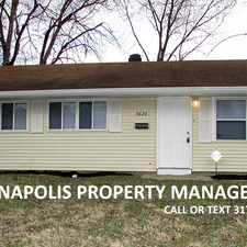 Rental info for 3623 North Wittfield Street in the Indianapolis area