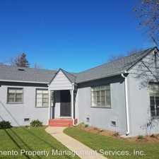 Rental info for 3901 Downey Way in the East Sacramento area