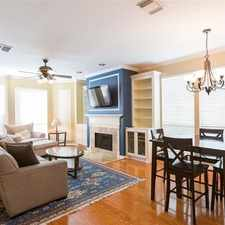 Rental info for Townhouse In Move In Condition In Houston in the Houston area