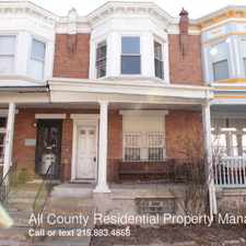 Rental info for 5012 Beaumont St. in the Philadelphia area
