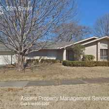 Rental info for 6605 E. 55th Street in the Tulsa area