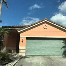 Rental info for 952 Sunflower Cir in the 33327 area