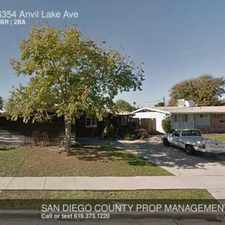 Rental info for 6354 Anvil Lake Ave in the San Diego area
