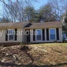 Rental info for 10010 Heathergate Lane Charlotte NC 28227 in the Charlotte area