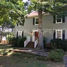 Rental info for 2-story home, 3 bdrms, first floor master, large fenced back yard