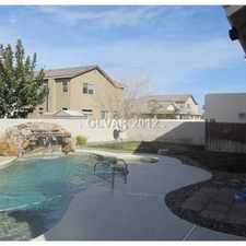 Rental info for 3 Bedroom Home With Pool And Spa in the Henderson area