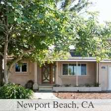 Rental info for Newport Beach - 3bd/2bth 2,005sqft House For Rent in the Costa Mesa area